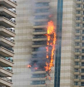 Facade Fire - Dubai