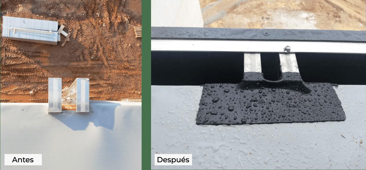 Remates perimetrales con parapetos y paredes